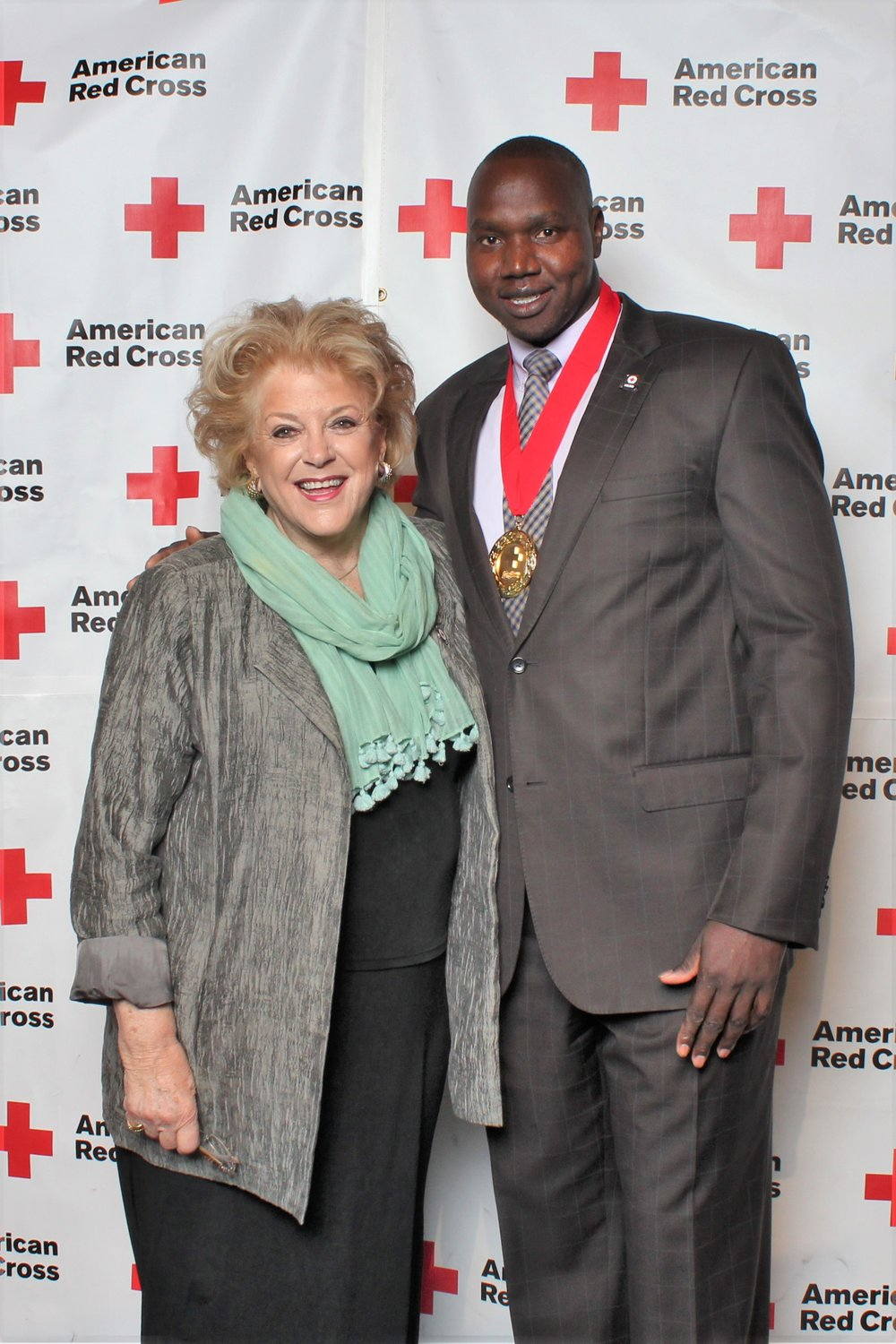 With the Mayor of Las Vegas Carolyn Goodman. Honored to receive  Community Impact Award, 2016 Everyday Heroes, American Red Cross 10.6.16