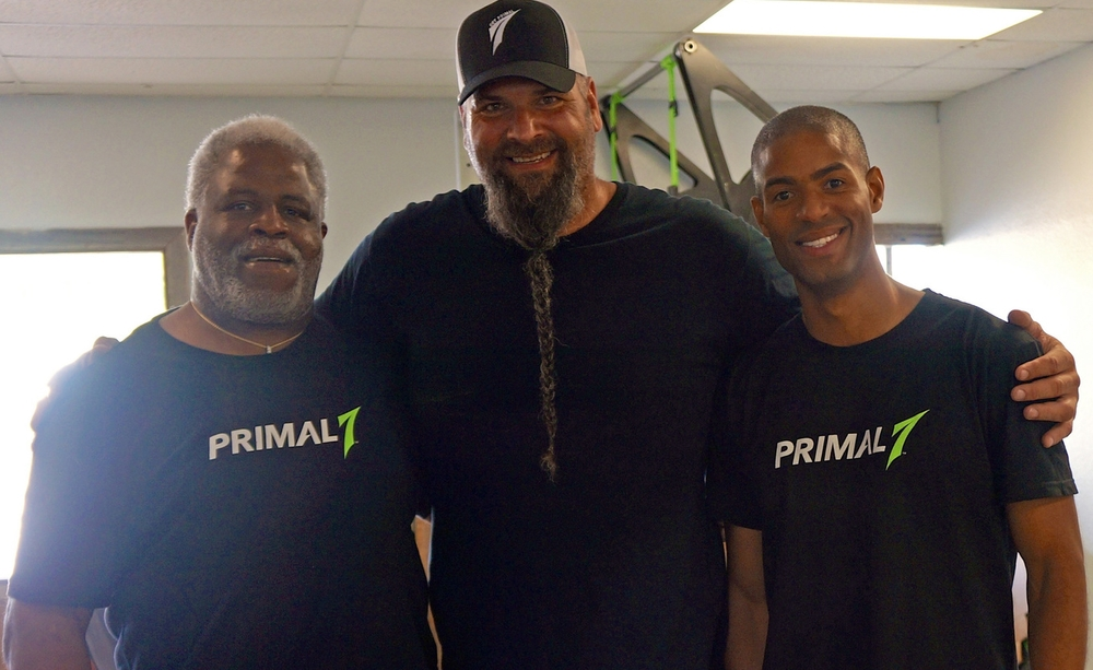 Pro Football Hall-of-Famer Earl Campbell, Primal 7 Co-Founder Brian DeMarco and Primal 7 CEO Victor AbiJoaudi