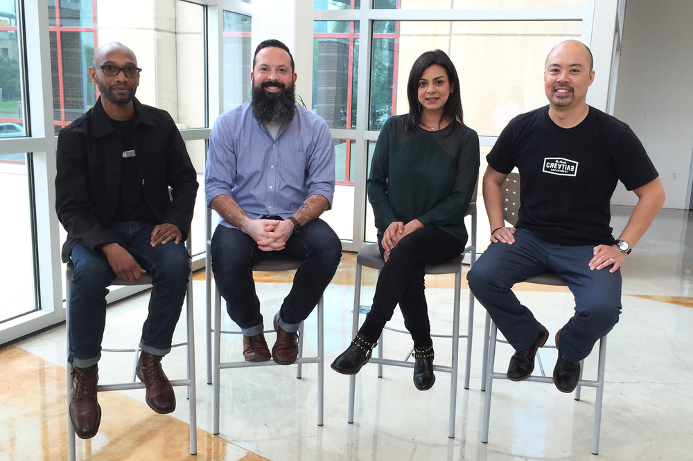 Our instructors are all working professionals in Austin. (left to right) Oen Hammonds, Russell Toynes, Jennette Lemley and Will Chau. Not pictured: David Fawcett (He's off to the side, savoring a delicious breakfast taco.)