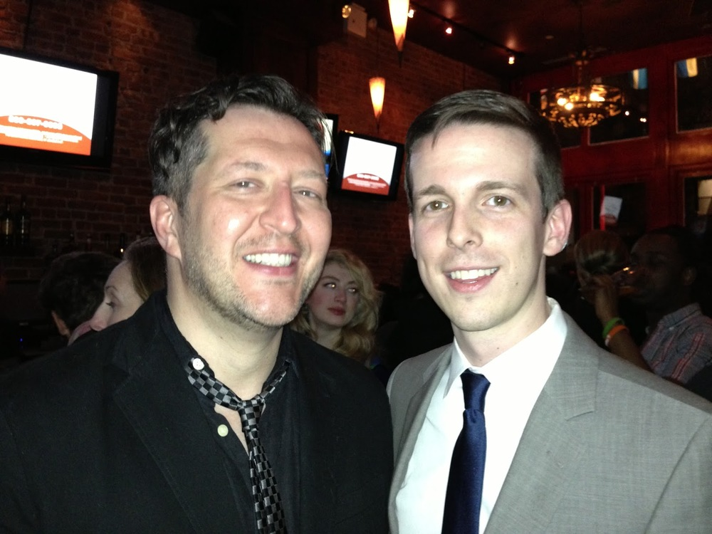 Zachary and composer Thomas Ades.