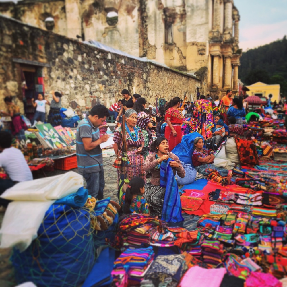 Shop beautiful textiles in Antigua