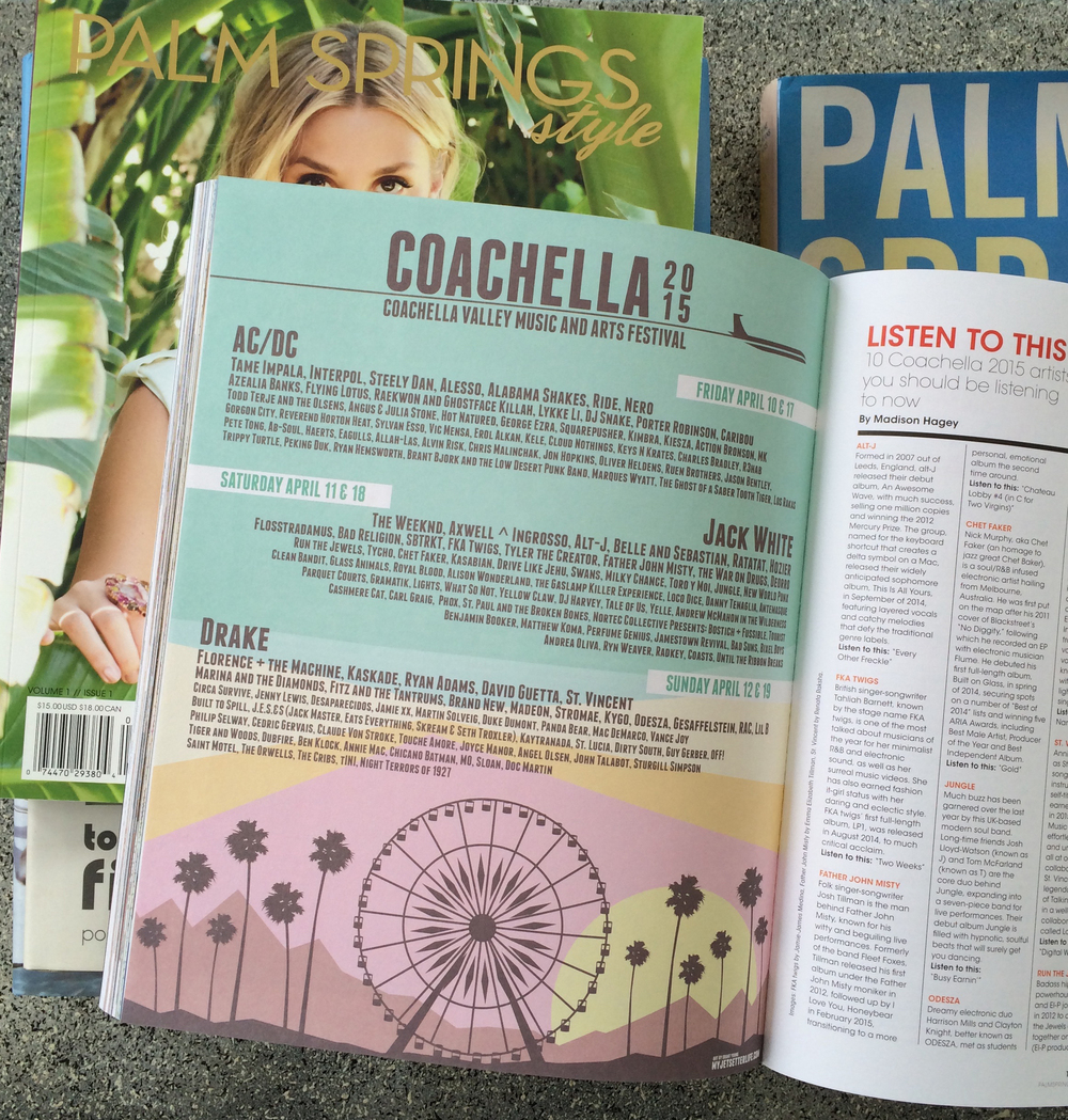 My illustration for Coachella 2015