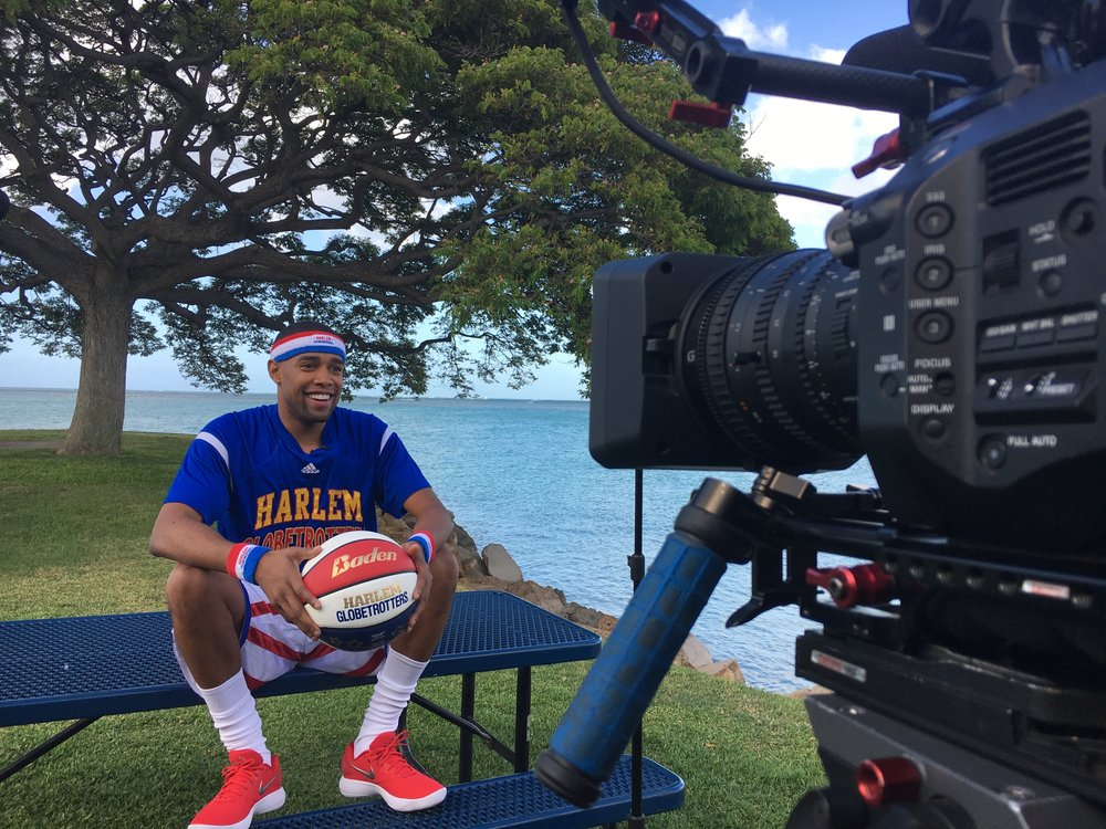 Harlem Globetrotters at Pearl Harbor in Hawaii