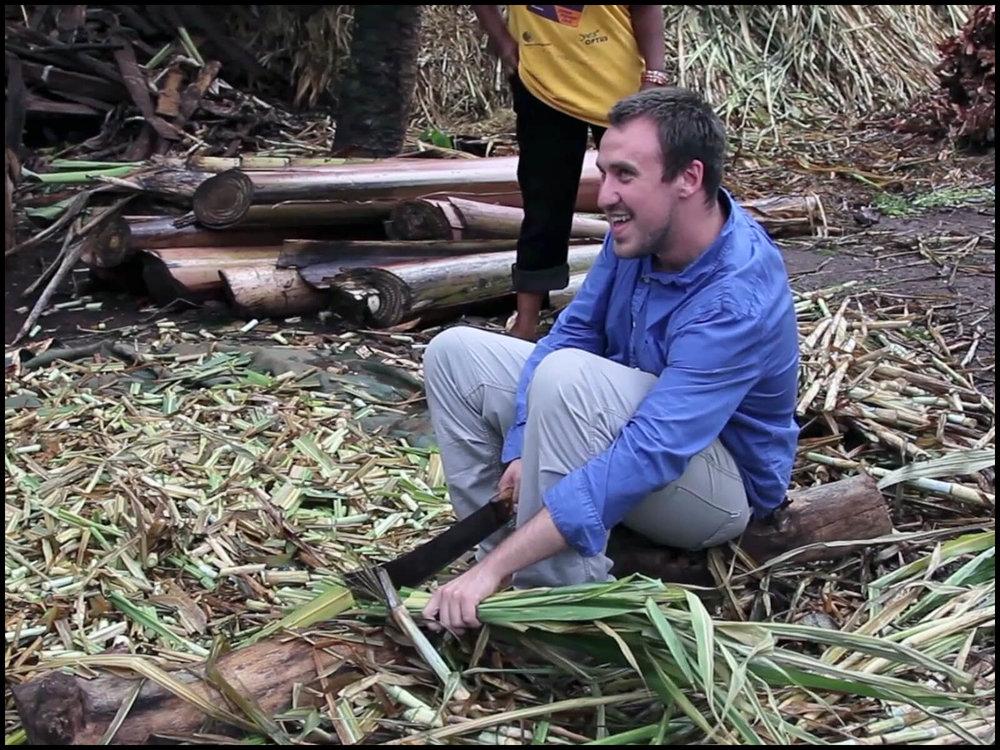 Dylan on a Kenyan farm.