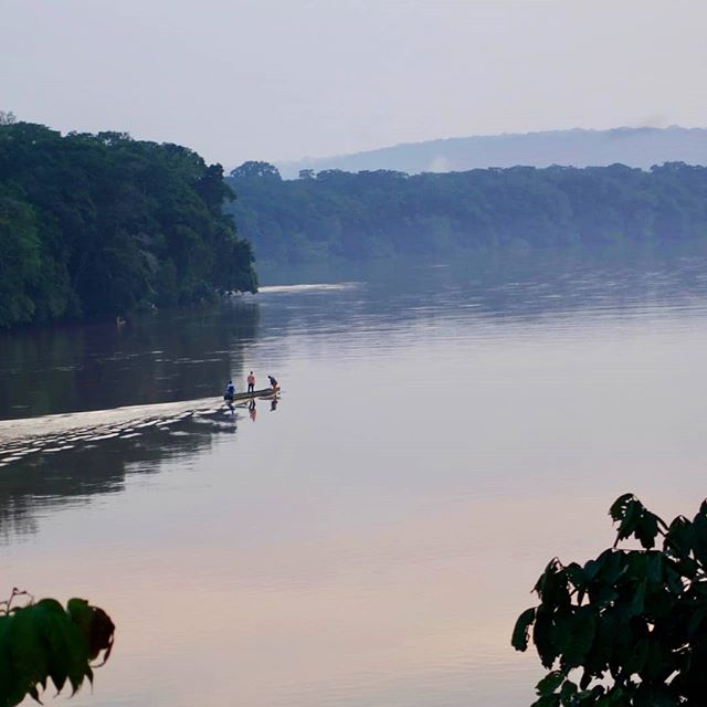 The Sangha river in C.A.R. Picture taken last summer. #centralafricanrepublic #bayanga #sanghariver