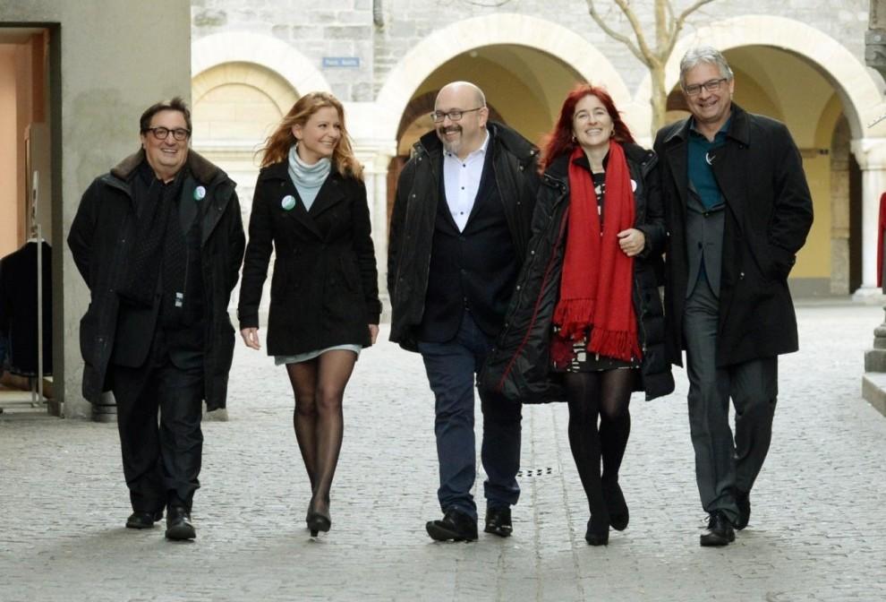 Da sin.: Franco Denti, Maristella Patuzzi, Sergio Savoia, Tamara Merlo e Francesco Maggi