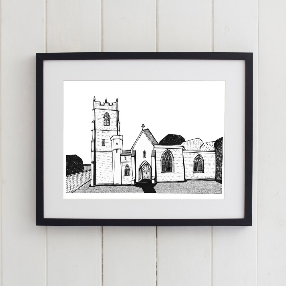 All Saints Colehill Church in frame.jpg.jpeg