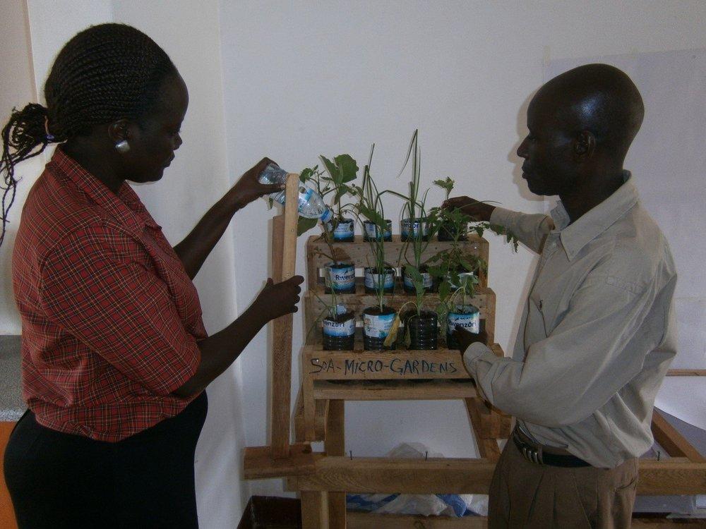 Micro gardening demonstration
