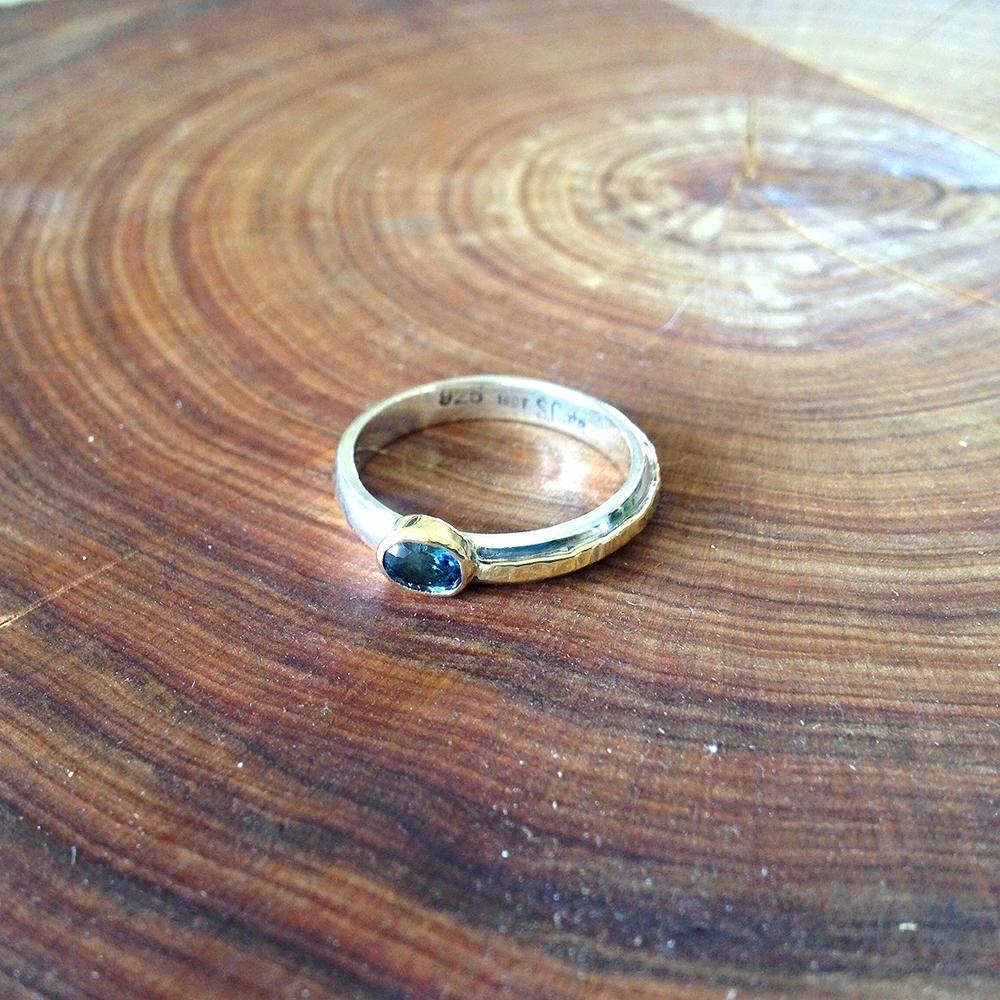 Australian Sapphire Engagement Ring