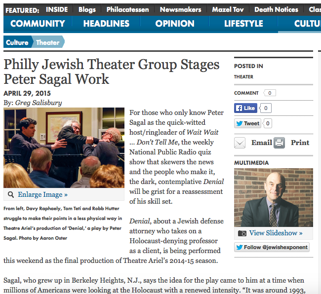JewishExponent.com 4/29/15