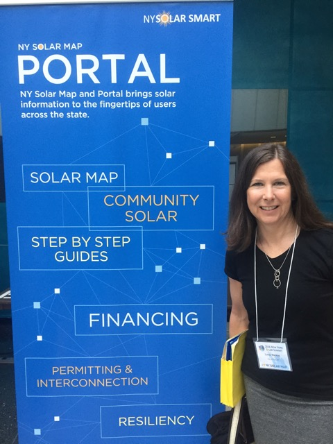 RSC Member Linda Mackay at the Solar Summit