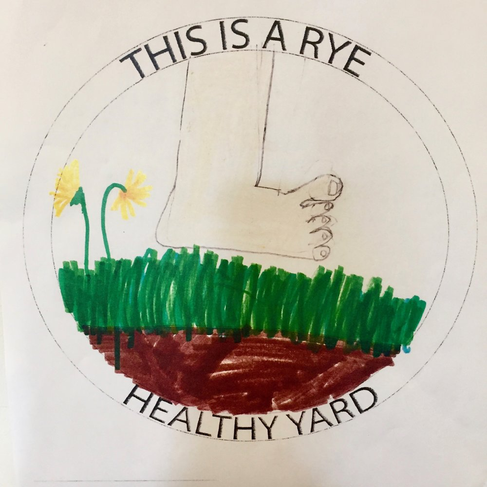 Liv McNamara's winning design, which will be used for the healthy yard sign.