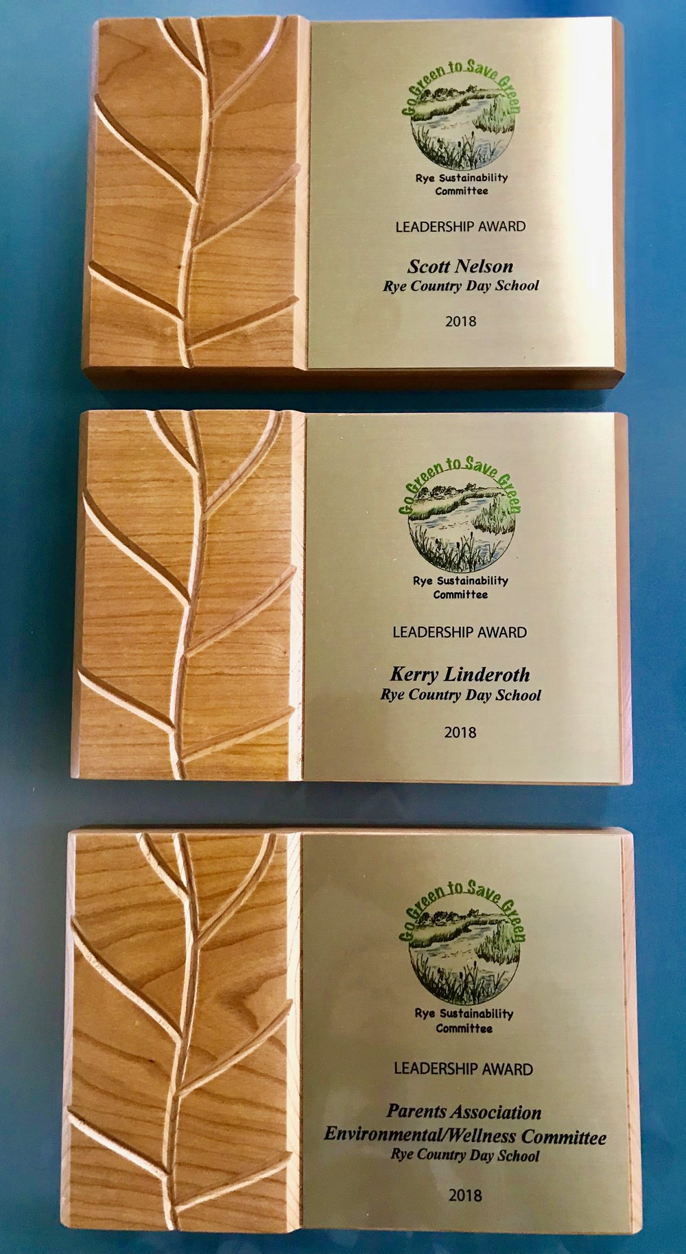 Award plaques are created by  Rivanna Designs  from    FSC®-certified  cherry.