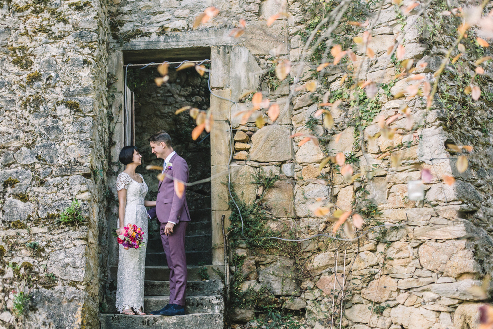 Destination Wedding at Château de Queillé in France | Charlotte Hu Photography