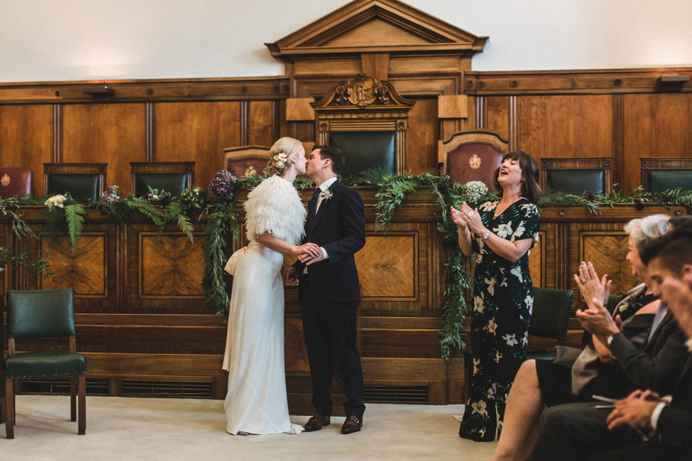 Humanist Wedding at Town Hall Hotel | Charlotte Hu Photography
