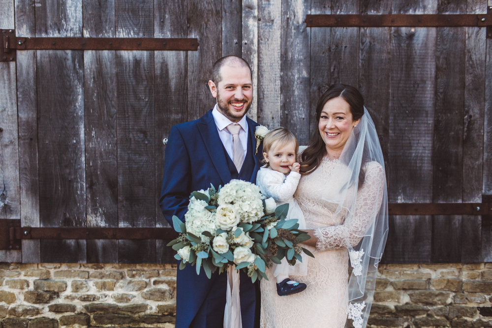 Wedding at St Peter's Newdigate & Old Greens Barn | Charlotte Hu Photography