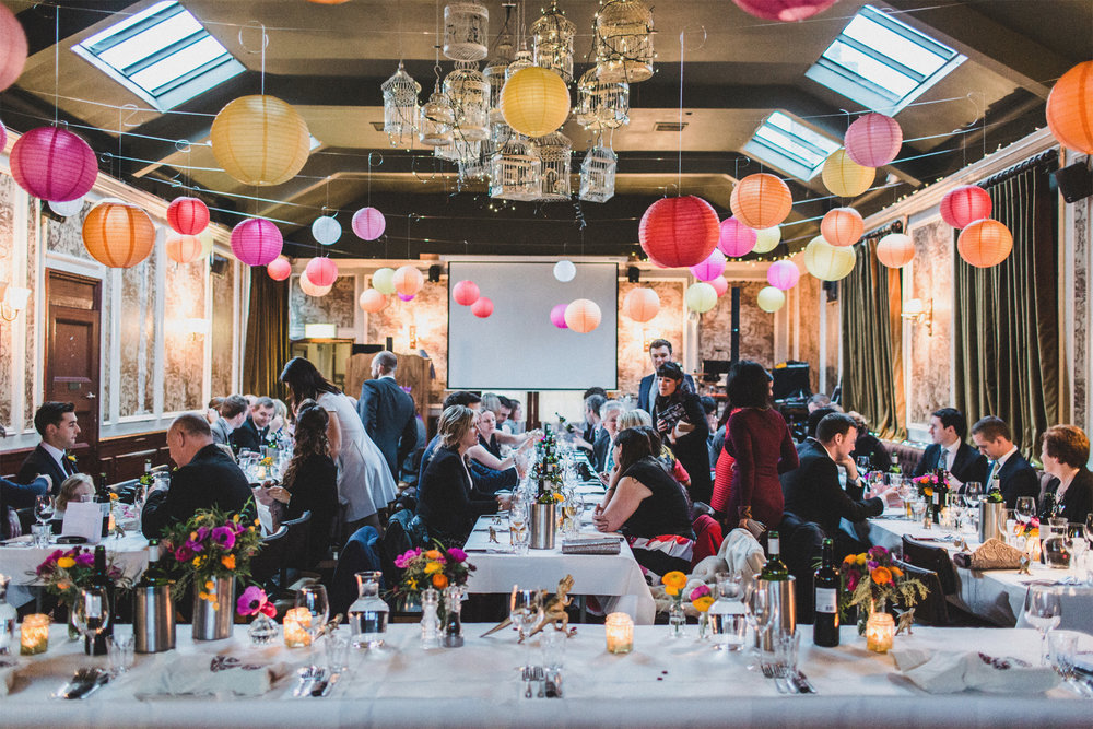 Creative Pub Wedding | Balham Bowls Club, London | Charlotte Hu Photography