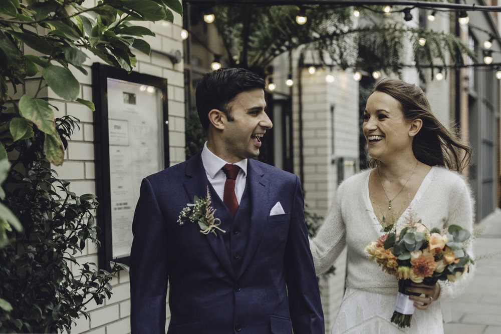 First Look | Wedding at Hackney Town Hall & The Tab | Charlotte Hu Photography