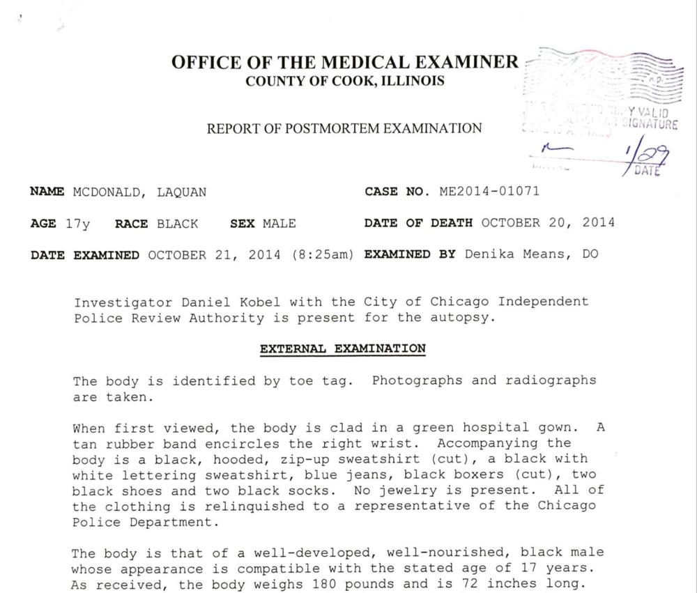 Autopsy Of Laquan Mcdonald Invisible Institute