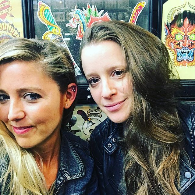 When your friends bring out the best in you // #pierced @erinmccu 👂🏼❤️ #nyc