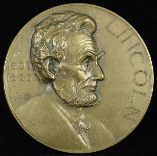 abraham lincoln essay award medal illinois watch company  1927 abraham lincoln essay award medal illinois watch company 3 bronze