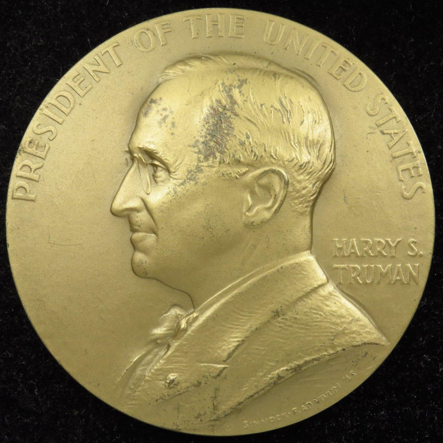 Harry S Mint Presidential Medal Truman U.s