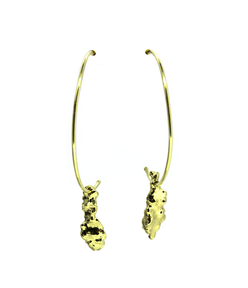 Fairtrade 18ct Gold Hooped Earrings
