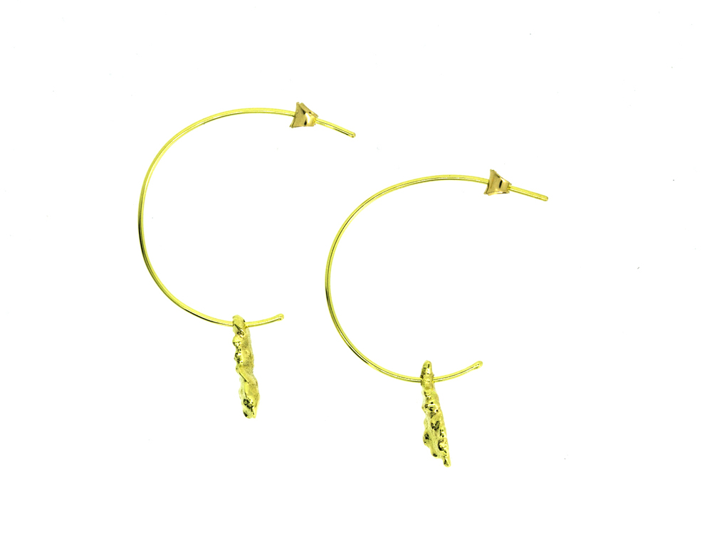 Fairtrade 18ct Gold Hooped Earrings (side)