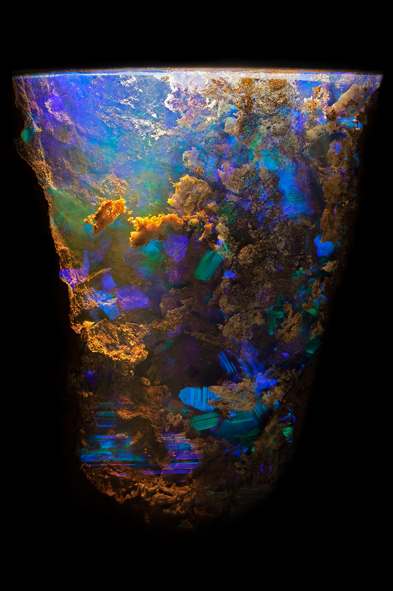 Opal in ironstone © Danny J Sanchez Queensland, Australia Field of View = 9.00mm • Depth of Field = 4.0mm