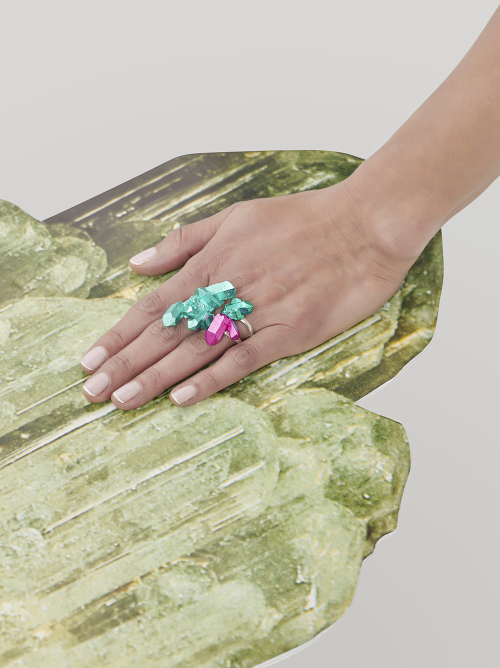 HotRocks Trigonal Cluster Rings in Turquoise and Pink Low Res.jpg