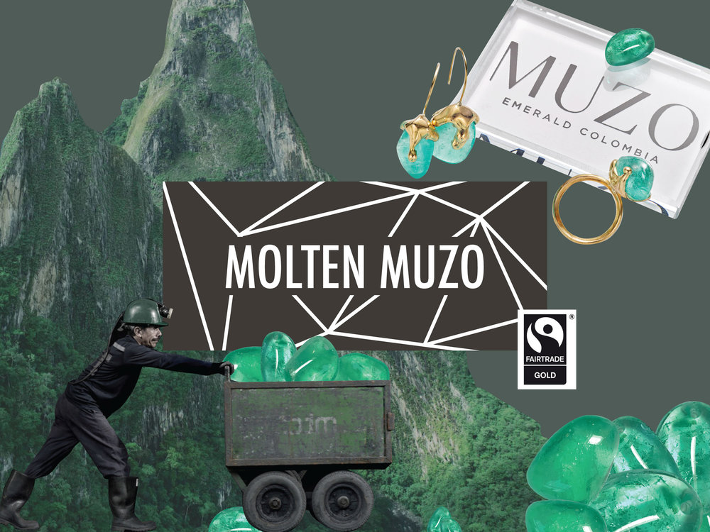 Muzo Emerald Fairtrade Gold Ethical Jewellery Collection