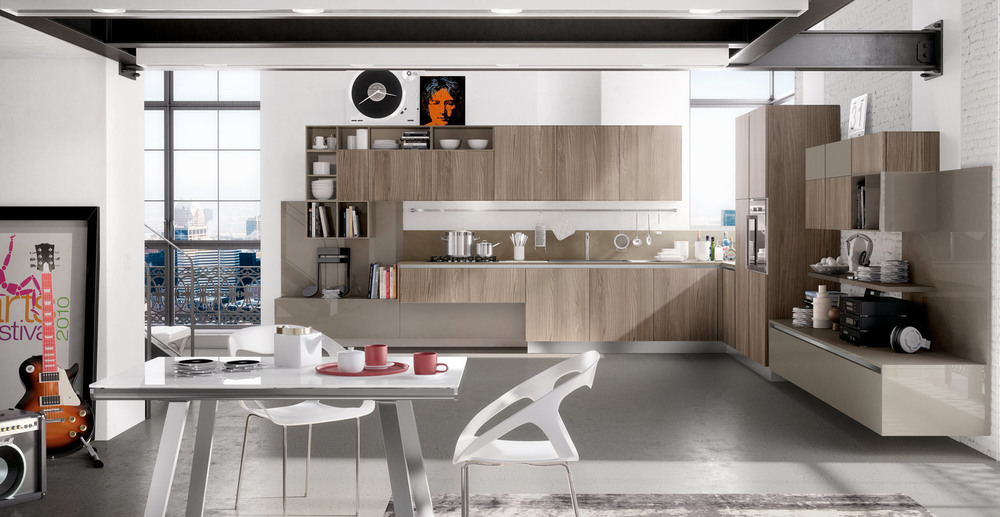 Modern-Pop-Masculine-Kitchen-Design-Inspiration-for-Neutral-Wooden-Modern-Industrial-Style-Corner-L-Shaped-Kitchen-with-Matching-Glossy-Brown-Wall-Paneling.jpg