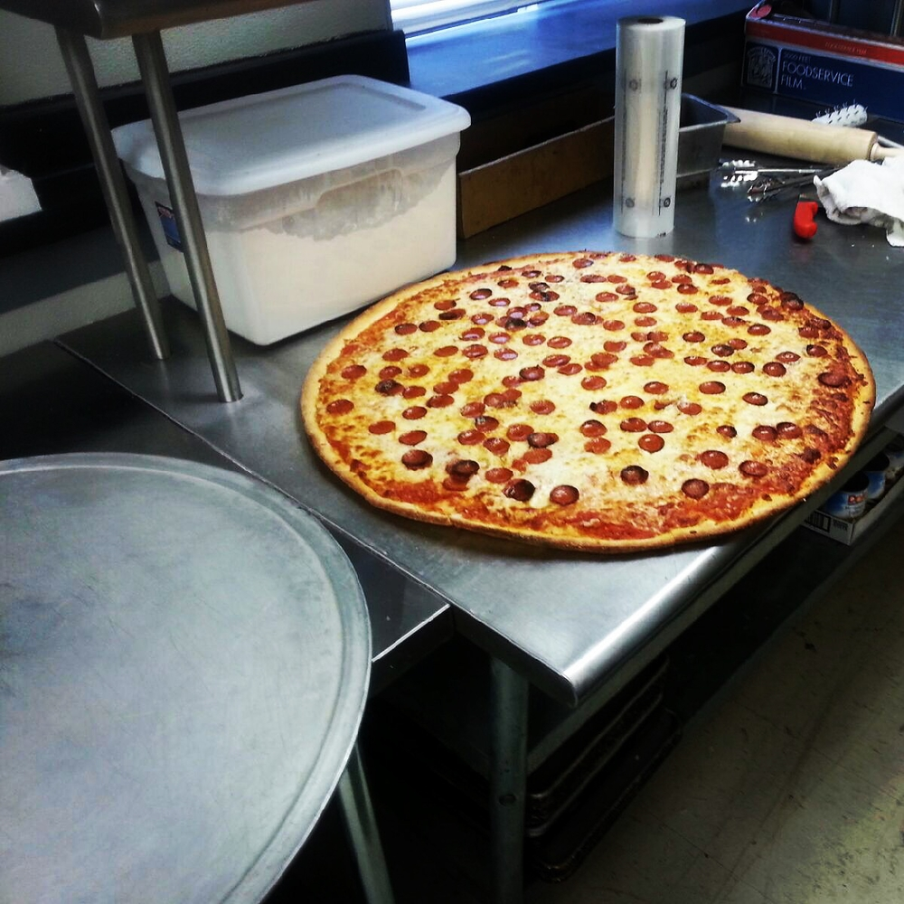 "Our famous 28"" Big Guy Pie"