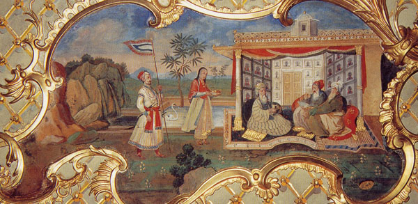 Mughal paintings displayed at the Millionenzimmer, Schönbrunn Palace, Vienna, c. 1760
