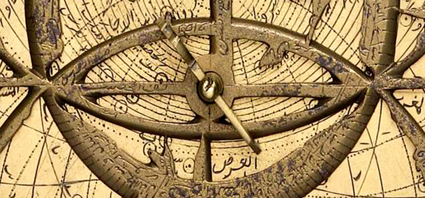A brass astrolabe from India, c. 1630 (detail). © Museum of the History of Science, Oxford
