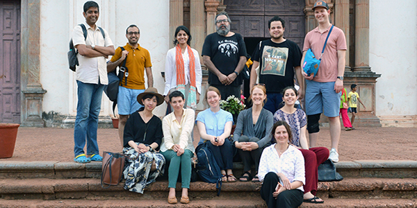 Participants of the 2019 Judith Stronach Travel Graduate Seminar at the Sé Cathedral in Goa