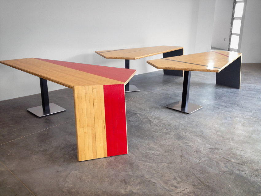 Gym Floor Conference Table Corvus Design Build - Build a conference table