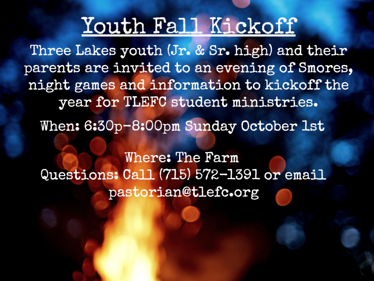 Events and Announcements — Three Lakes Evangelical Free Church