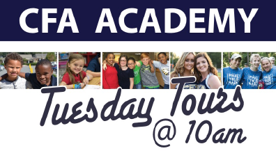 UPCOMING DATES: September 11, October 9, November 13, December 11, January 8, February 12, March 12, April 9, May 14    We Invite you to join us for a Tuesday Tour! You will be able to meet the administration and tour the facilities. All schools, daycare, elementary, middle and high, will be open. We are so excited to meet you and invite you to be a part of the Eagle Family!