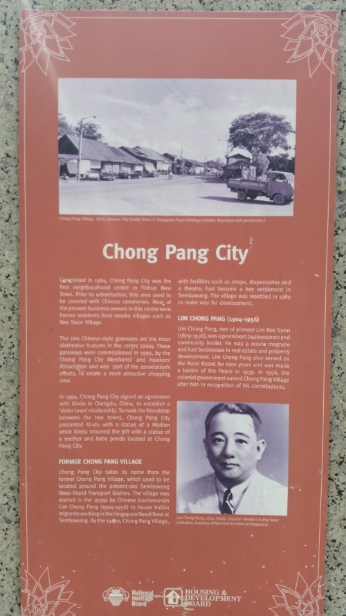 Background information on Chong Pang City