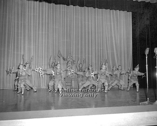 Rehearsal at Victoria Theatre Photo provided by National Archives of Singapore
