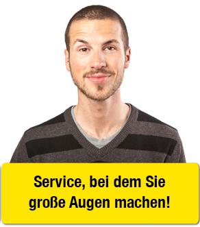 SERVICE: Wir stehen für besten Service Wir pflegen den persönlichen Kontakt zu unseren Kundenund setzen auf individuelle Beratung von Mensch zu Mensch.