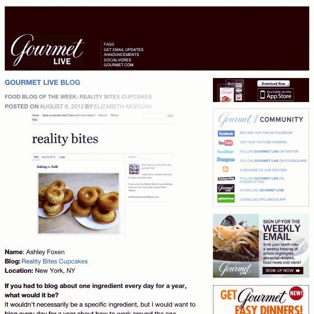Food Blog of the Week, August 2012