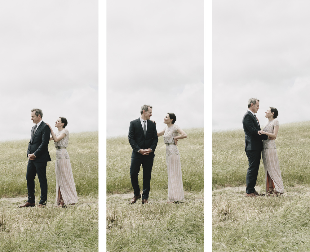 first look farm wedding Petaluma California Chileno Valley Ranch