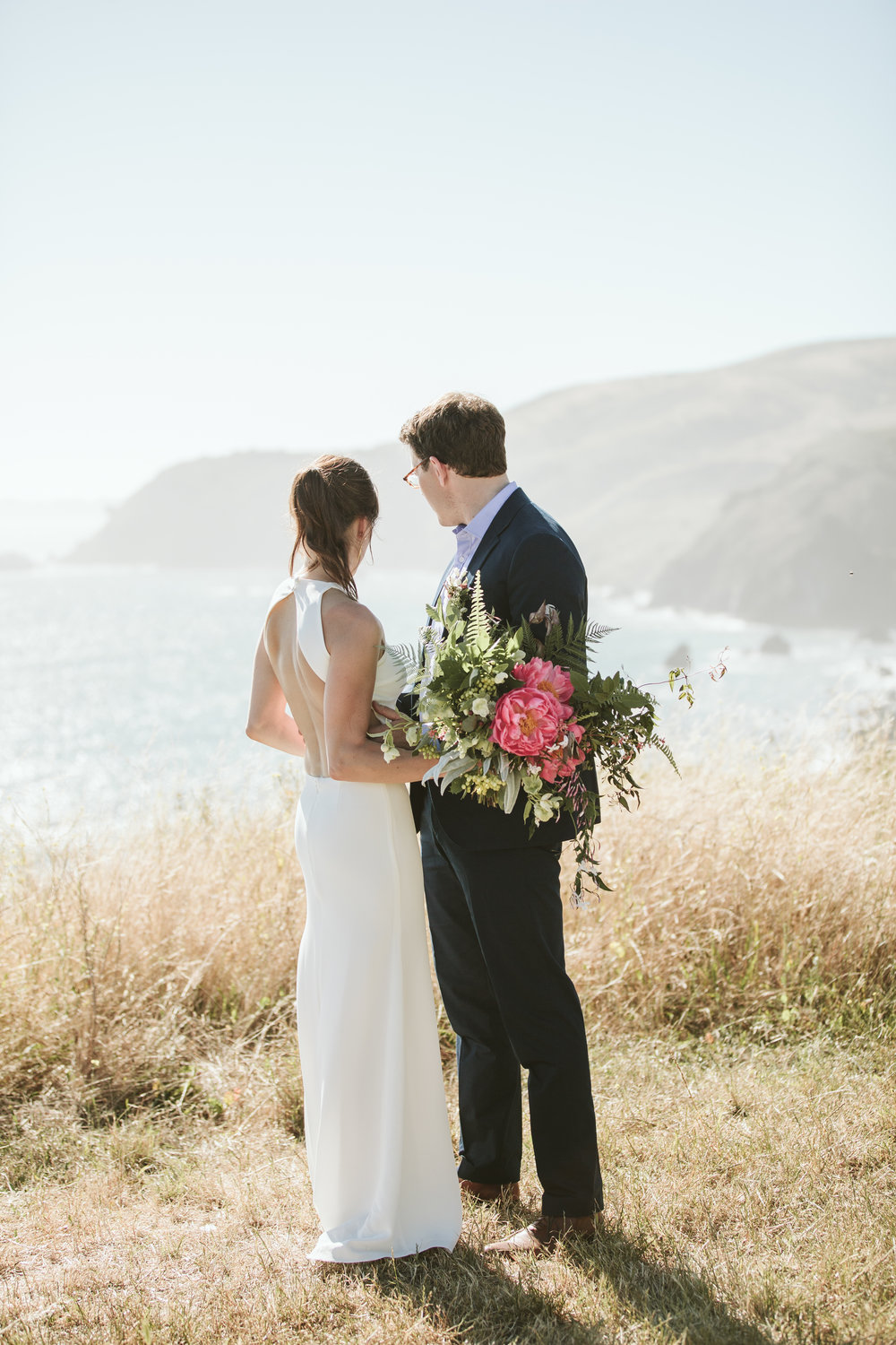 a wedding ceremony overlooking the california coast