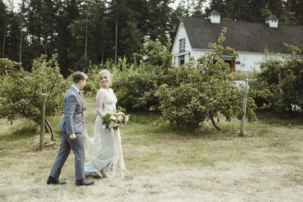 modern romantic farm wedding - sea cider victoria bc