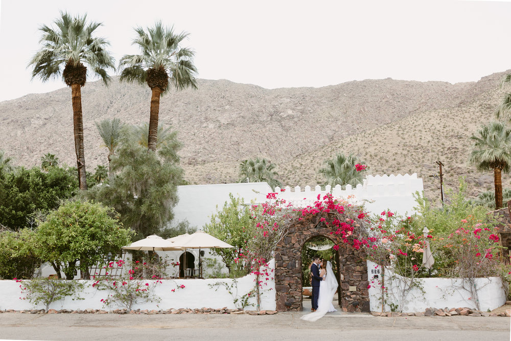 Palm Springs wedding Korakia Pensione