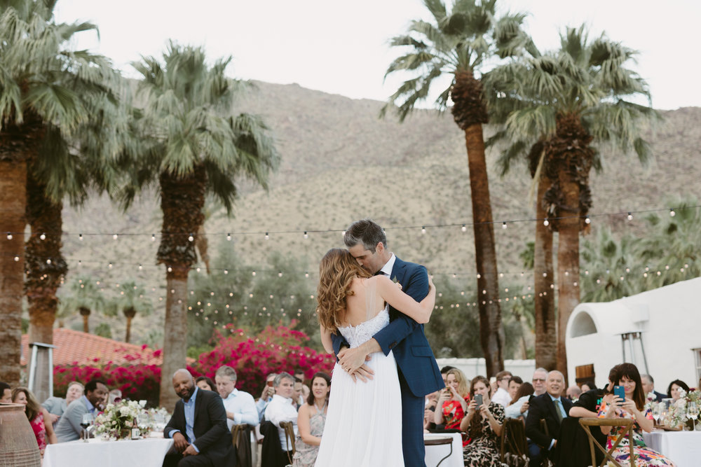 first dance Palm Springs wedding