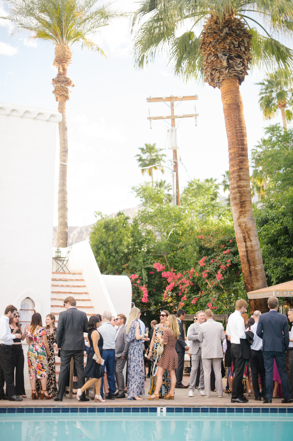 Palm Springs wedding by the pool