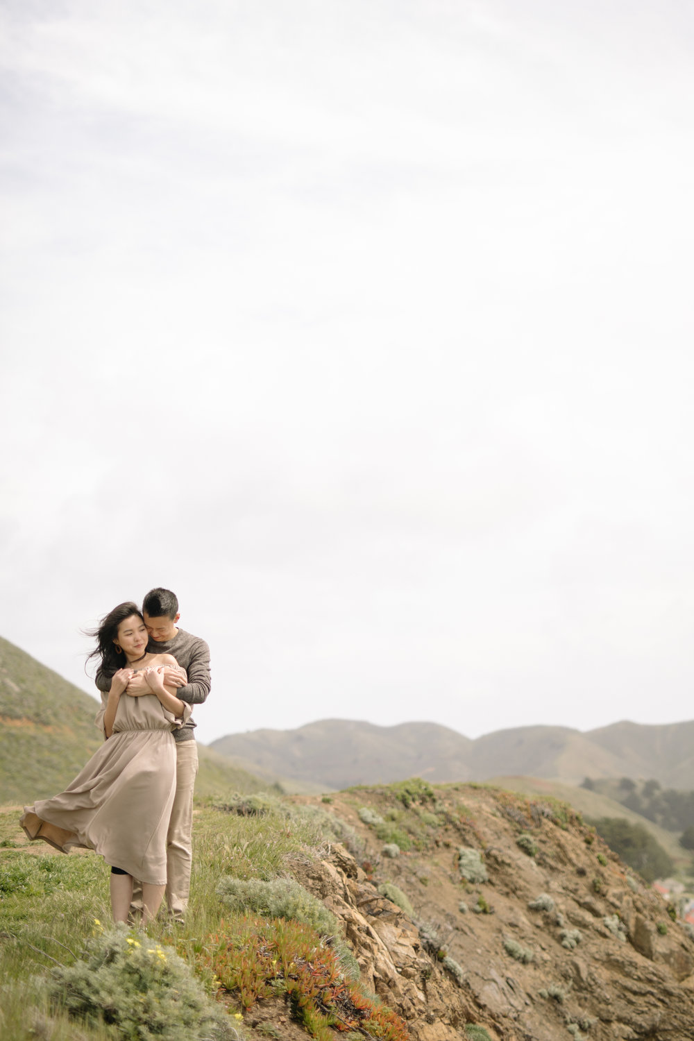 Marin Headlands Engagement Photos- Rodeo Beach